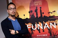 "French animation filmmaker Denis Do who directed the cartoon movie ""Funan"", poses during the International Animation Film Festival, on June 12, 2018 in Annecy. (Photo by JEAN-PIERRE CLATOT / AFP)"