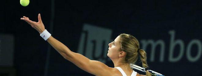 Mandy Minella profitierte auch von sieben Doppelfehlern ihrer Gegnerin.