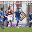 Kapitän Tim Heinz brachte den CS Grevenmacher in dieser Saison in Wiltz mit 1:0 in Führung.
