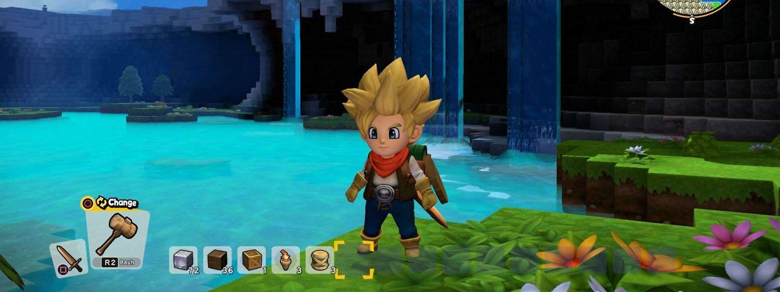 """Neue Welt, neue Materialien: Jeder Ausflug in fremde Gegenden zahlt sich bei """"Dragon Quest Builders 2"""" aus."""