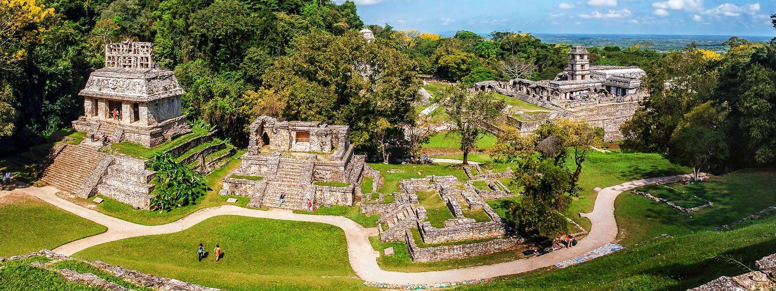 Mittlerweile werden in den Ruinen von Palenque pro Jahr rund 900.000 Besucher gezählt.