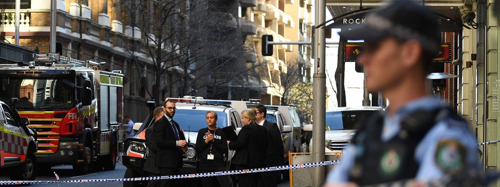 Polizei am Tatort in Sydney.