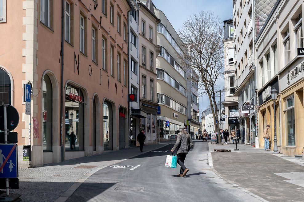 WO fr , rue du Fossé , um Gruef , Foto:Guy Jallay/Luemburger Wort