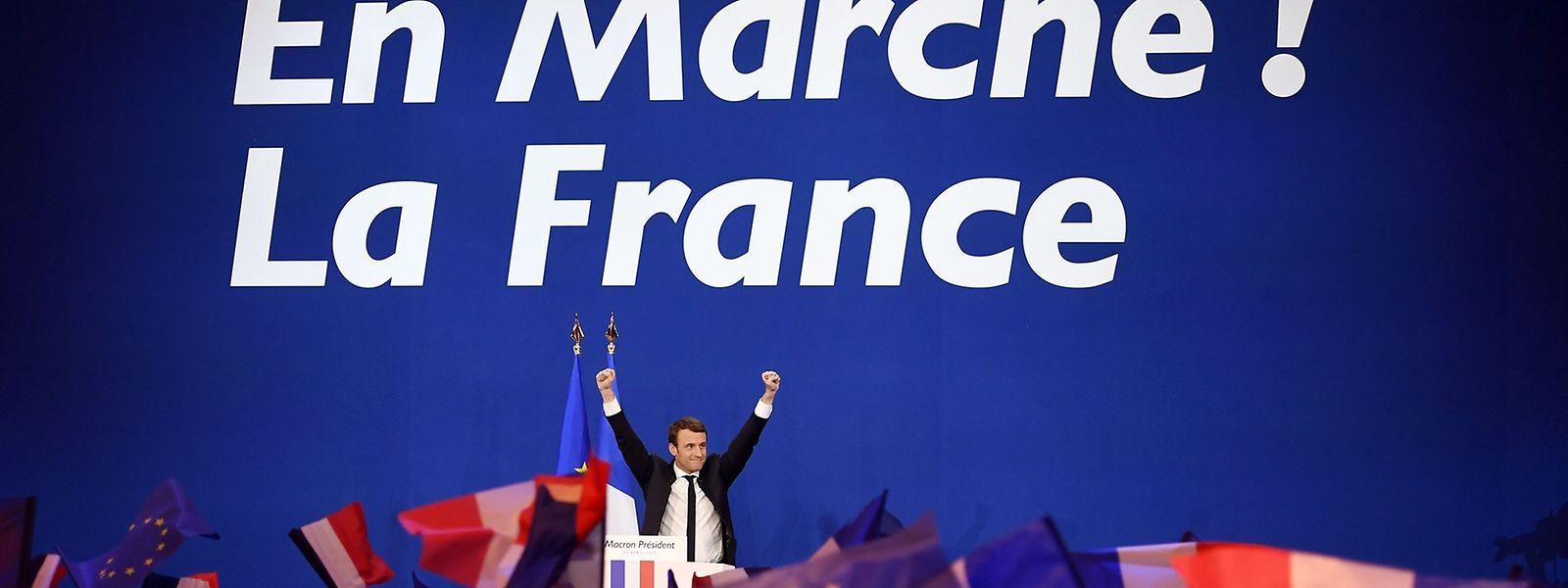 Emmanuel Macron entschied die erste Runde vor Marine Le Pen für sich.