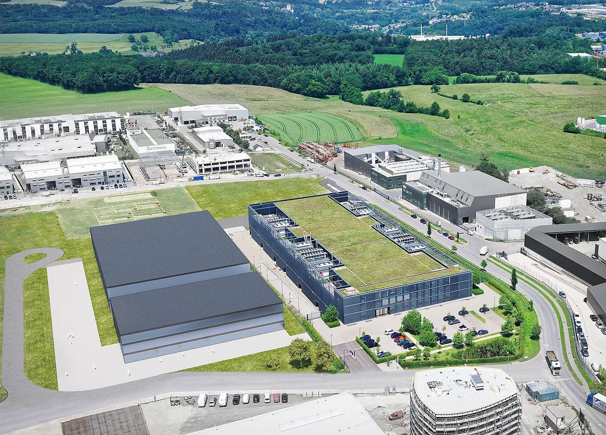 Imagem do projeto do supercomputador, em Bissen.