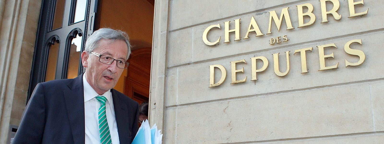 Nach der Chambersitzung über den SREL-Bericht am 10. Juli 2013 verlässt Jean-Claude Juncker die Chamber ein letztes Mal als Premier.