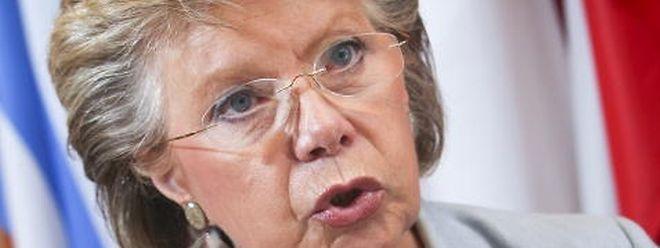 """Reding selbst will nicht für das Brüsseler Spitzenamt kandidieren: """"Das wäre doch lächerlich""""."""