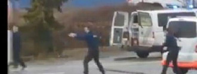 Ein Screenshot aus einem Video der Schießerei, das von Zeugen gemacht wurde.