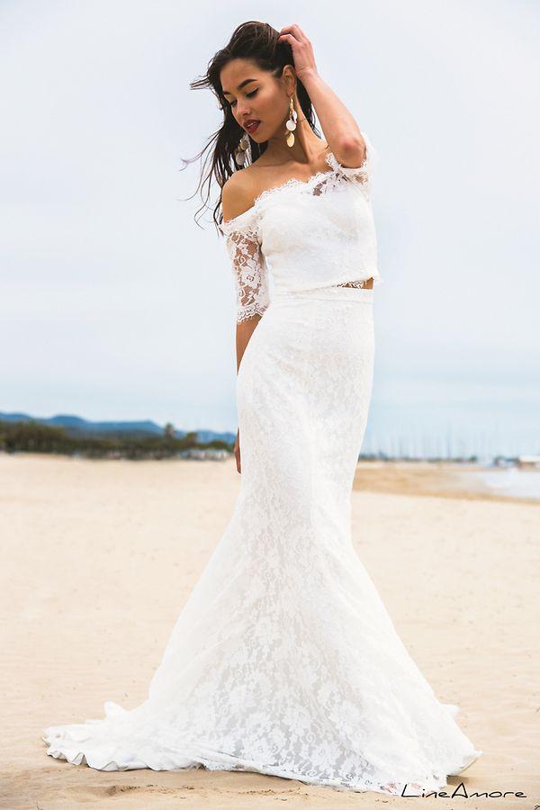 Bauchfreies Braut-Outfit von Linea Raffaelli