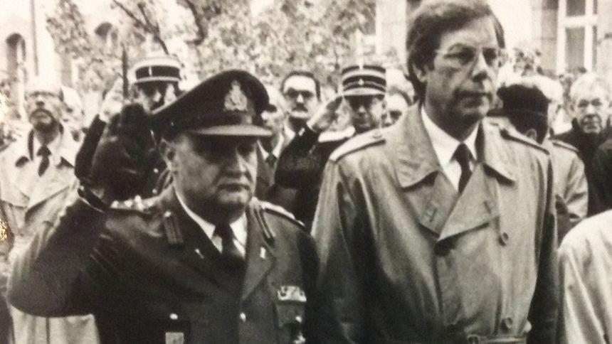 Colonel Armand Bruck und CSV-Politiker Willy Bourg: sie sollen den Zeugen Gilbert Leurs 1986 unter Druck gesetzt haben, weil er die BMG und den Prinzen Jean für die Anschläge verantwortlich machte.