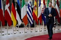 Luxembourg's Prime Minister Xavier Bettel arrives for a European Union Summit at the Europa building in Brussels on December 12, 2019. - European Union leaders meet without Britain on December 12, but their departing neighbour's absence will not make agreeing a budget any easier. Inside the chamber, the clash over climate take Brexit's place as the dominant theme of the summit, the first to be chaired by incoming EU Council president Charles Michel. (Photo by Kenzo TRIBOUILLARD / AFP)