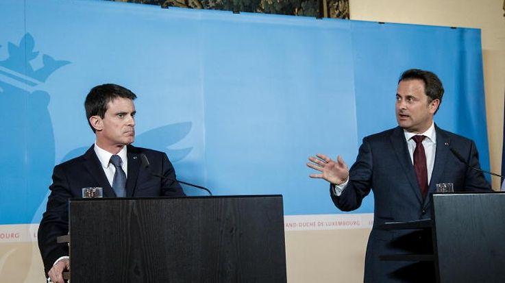11.4. Min Etat/ Visite Manuel Valls , Premier Ministre Francais chez Xavier Bettel Foto:Guy Jallay
