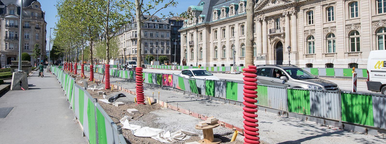 Les aménagements se poursuivent le long de l'avenue de la Liberté.