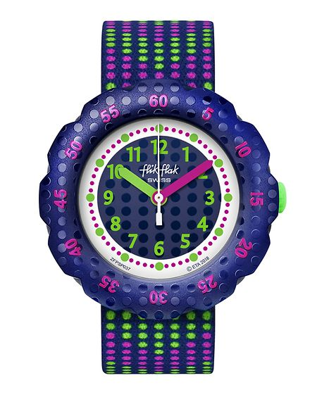Uhr von flik flak, um 45 Euro.