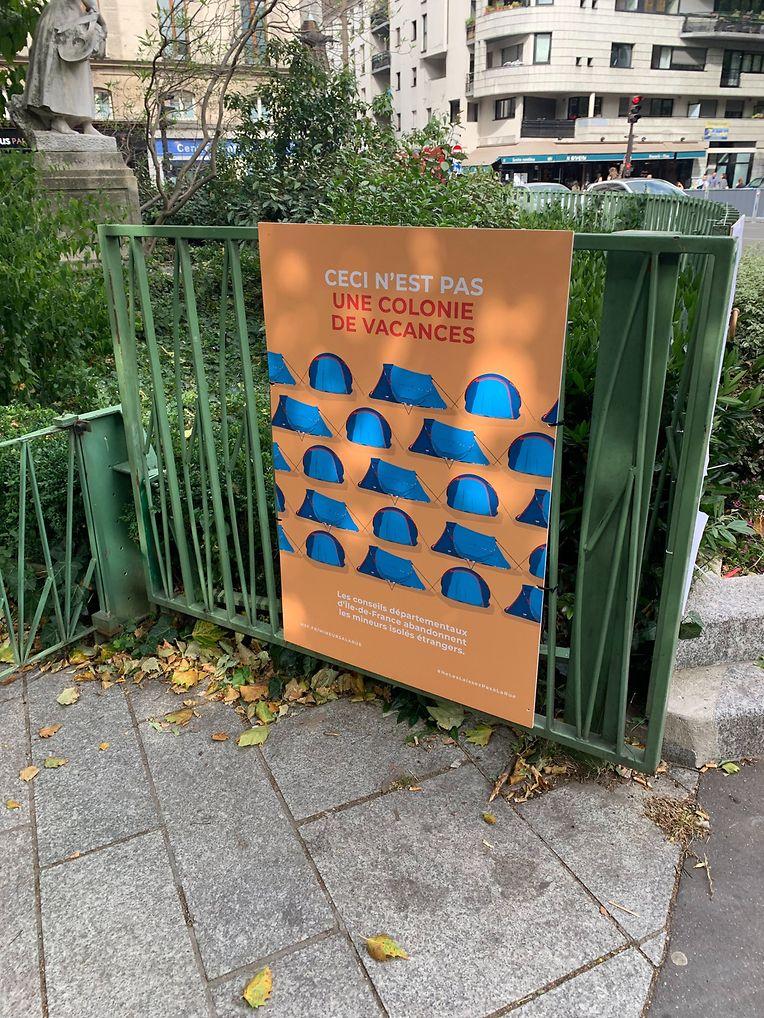 Zeltstadt für Migranten in Paris.