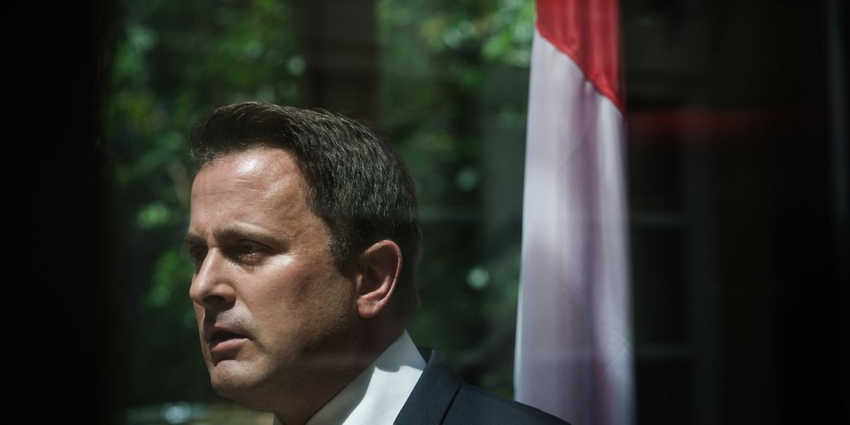 O Primenro-Ministro do Luxemburgo, Xavier Bettel