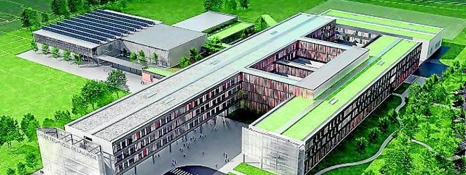 "Das neue Schmuckstück in der Schullandschaft: das ""Lycée technique de Lallange""."