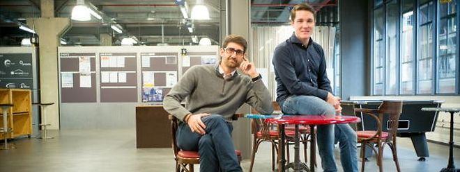Alexandros Trepeklis (l.) und Gerrit Brück (r.) wollen Yollty voranbringen.