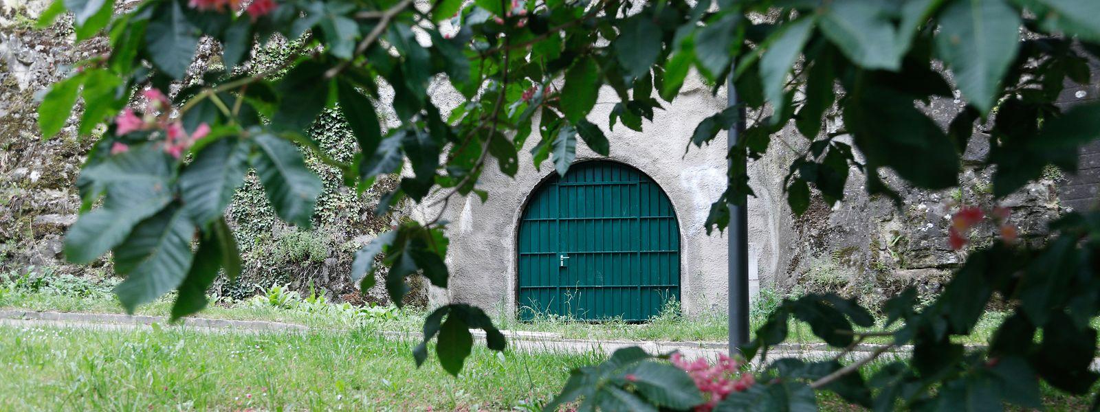 Zwei Türen - die eine im Petrusstal (Foto), die andere im Pfaffenthal. Mehr weist nicht auf den versteckten Tunnel unterhalb der Stadt hin.