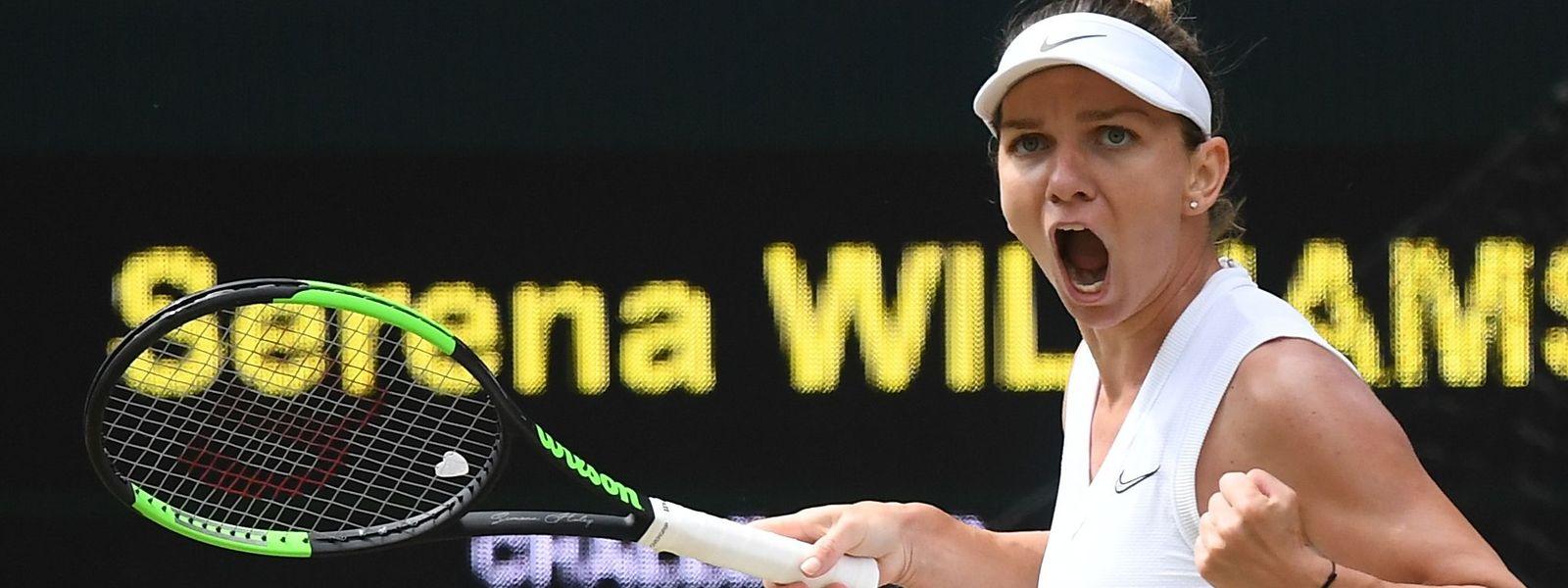 Simona Halep n'a jamais été en difficulté face à Serena Williams.