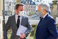 (de g. à dr.) Xavier Bettel, Premier ministre, ministre d'État; Didier Reynders, commissaire européen à la Justice