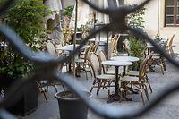 Wirtschaft, Vorbereitungen zu Wiedereröffnung Terrassen und Resturants, Luxemburg, Covid-19, Corona, Cafe des Capucins, Foto: Lex Kleren/Luxemburger Wort