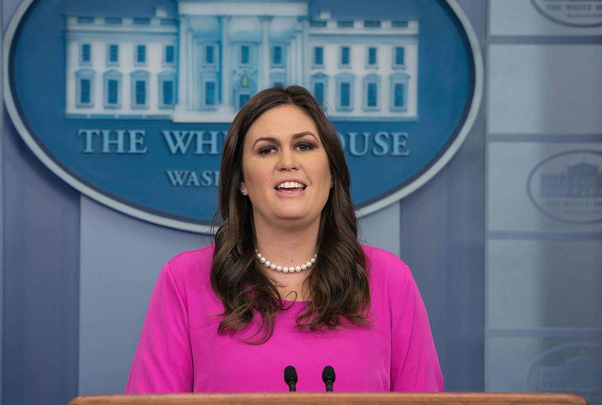 """Sprecherin Sarah Sanders: """"Das hat nichts mit uns, mit dem Präsidenten oder seinem Wahlkampf zu tun."""""""
