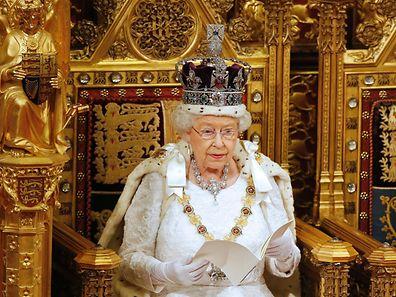 Königin Elizabeth II. während der letztjährigen Thronrede im Londoner Parlament.