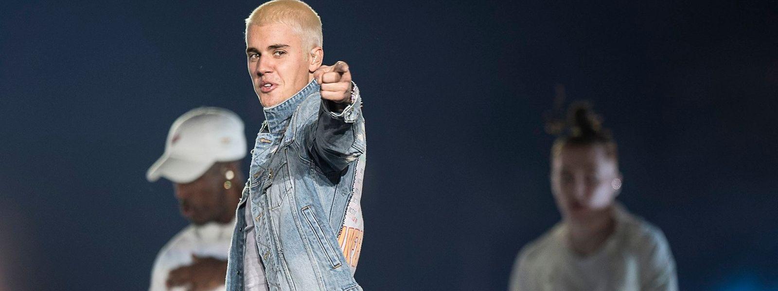 Justin Bieber bei einem Auftritt.
