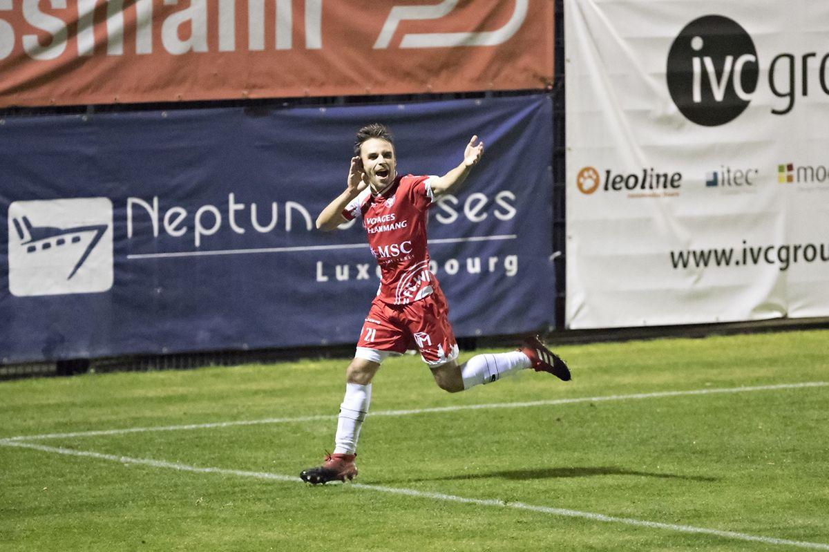 Dany Fernandes a inscrit le premier but des Wiltzois face à ses anciennes couleurs.