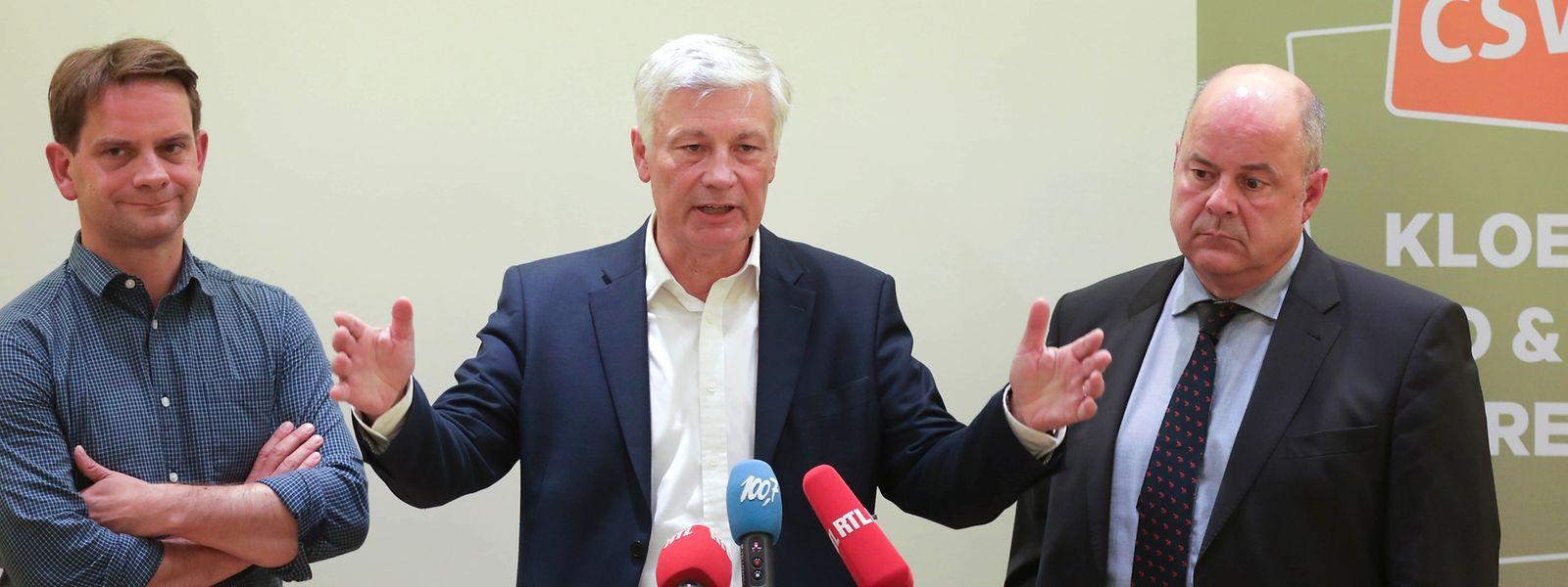 Laurent Zeimet, Claude Wiseler et Marc Spautz sont confirmés à leurs postes.