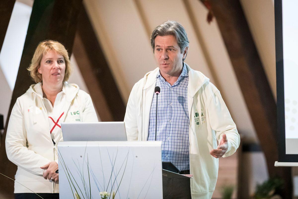 Christiane Mangen, Präsidentin des Vereins für die Luga-Organisation, und Vizepräsident Pierre Schmitt stellten die Pläne vor.