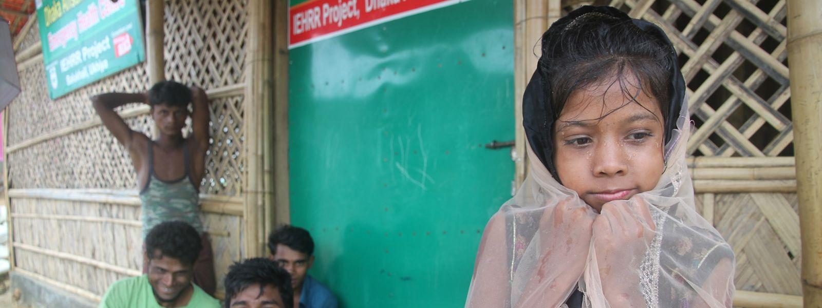 Besonders die Ronhingya-Kinder im Flüchtlingslager Kutupalong in Bangladesch leiden unter dem Monsun.