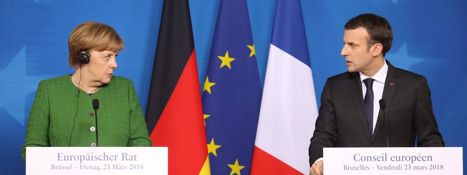Merkel und Macron auf dem Europäischen Gipfel.
