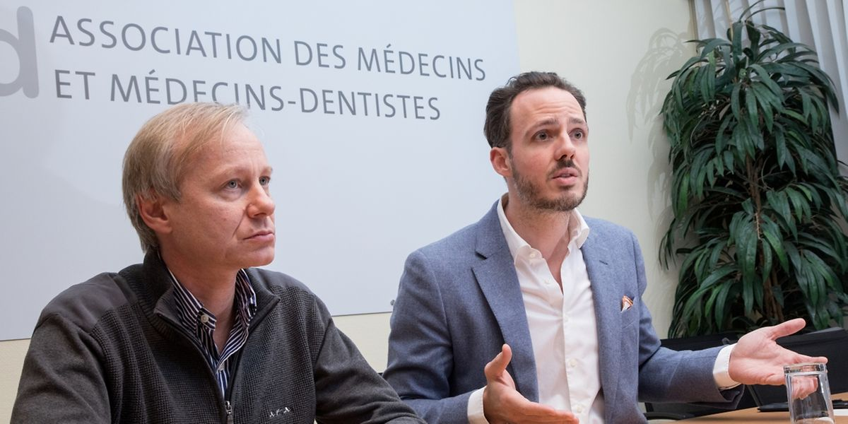 Aufgebrachte Ärztevertreter: AMMD-Präsident Dr. Alain Schmit und Verwaltungsratmitglied Dr. Philippe Wilmes.