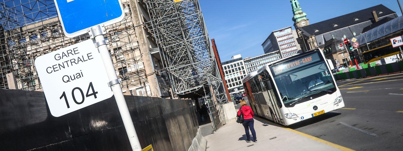 A l'approche de la gare, le chantier du tram va totalement redessiner la carte routière et l'emplacement des arrêts.