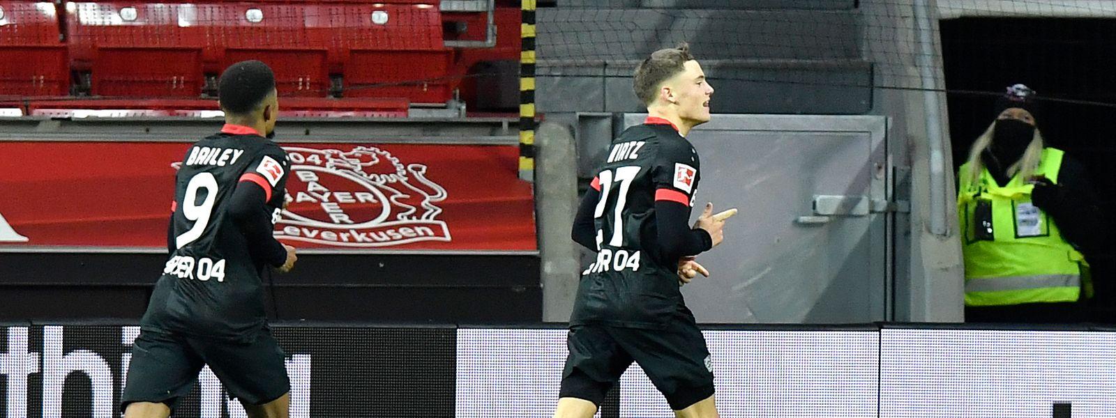 Der 17-jährige Florian Wirtz erzielt den Siegtreffer für Leverkusen.