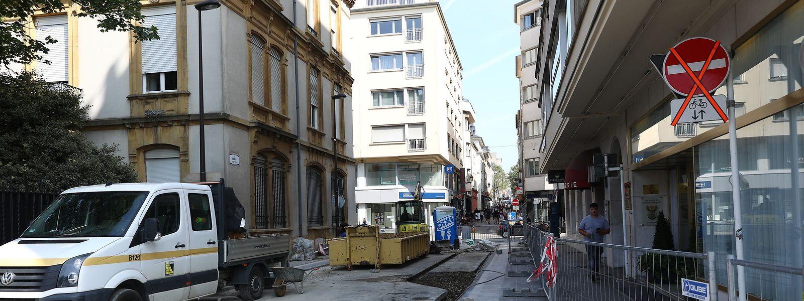 Die Bauarbeiten deuten bereits darauf hin, dass in der Rue Chimay Änderungen bevorstehen.