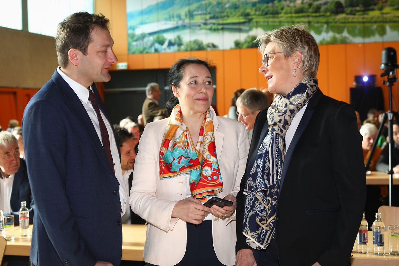 Christophe Hansen, Isabel Wiseler-Santos Lima und Martine Hansen.