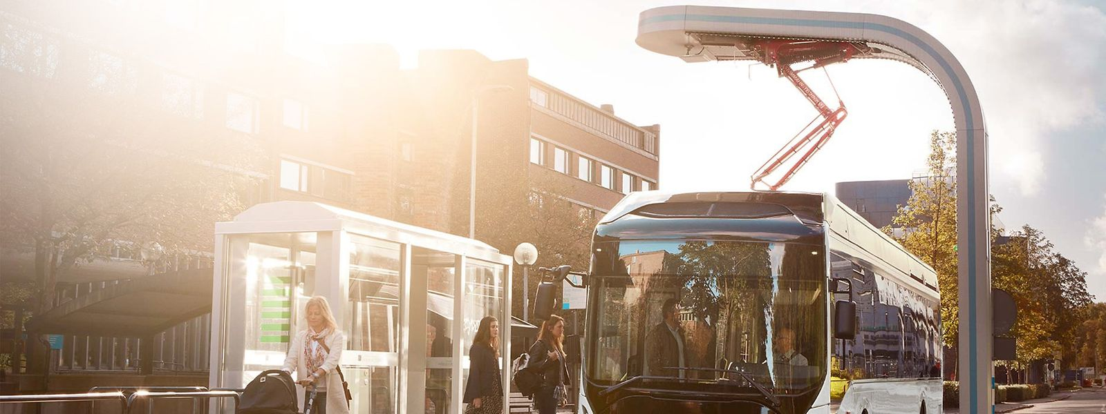 """Ab Mai werden die """"Diffbus""""-Linien von solchen Volvo-Bussen gefahren.Der Antrieb ist zu 100 Prozent elektrisch."""