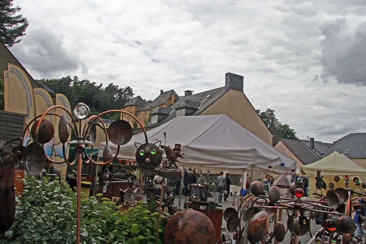 Der Kunsthandwerkermarkt in Burglinster.