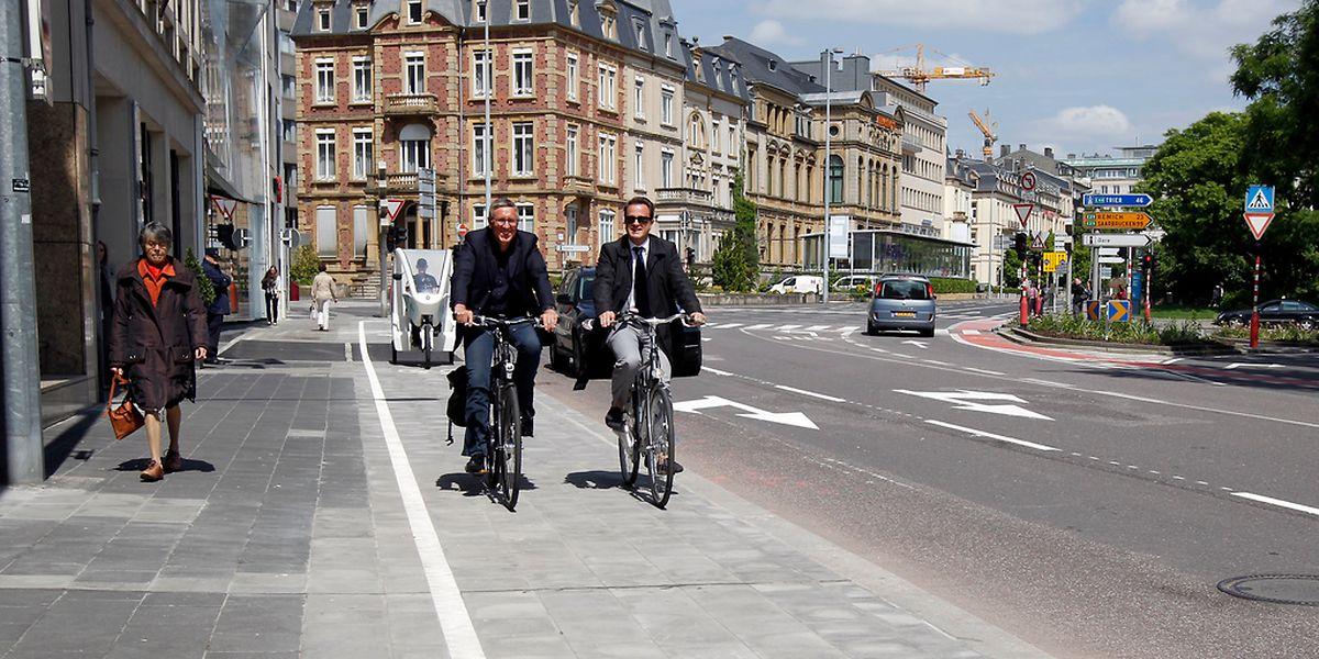 Selon Déi Gréng, la ville de Luxembourg comptait seulement 1% de cyclistes en 2005, contre 6% aujourd'hui.
