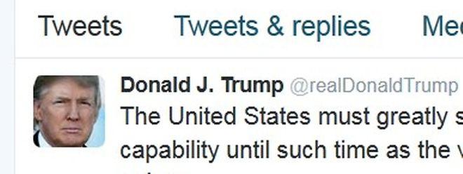 Trump macht immer wieder durch sehr kurze Äußerungen von sich reden.