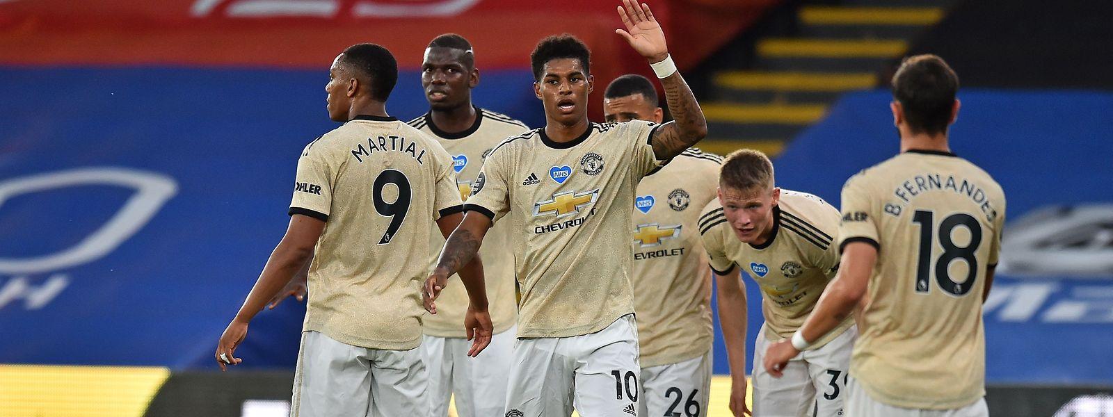 Marcus Rashford (10) und seine Teamkollegen von Manchester United surfen derzeit auf einer Erfolgswelle.