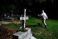 Brasil é o terceiro país do mundo com mais mortes por covid-19, perto de 40 mil.