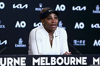 "This hand out photo released by the Tennis Australia on February 18, 2021 shows Serena Williams of the US gets emotional at a press conference after losing her women's semi-final match against Japan's Naomi Osaka on day eleven of the Australian Open tennis tournament in Melbourne. (Photo by ROB PREZIOSO / TENNIS AUSTRALIA / AFP) / -----EDITORS NOTE --- RESTRICTED TO EDITORIAL USE - MANDATORY CREDIT ""AFP PHOTO /ROB PREZIOSO/ TENNIS AUSTRALIA "" - NO MARKETING - NO ADVERTISING CAMPAIGNS - DISTRIBUTED AS A SERVICE TO CLIENTS"