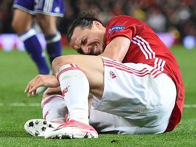 Zlatan Ibrahimovic verletzte sich gegen Anderlecht wohl sehr schwer.