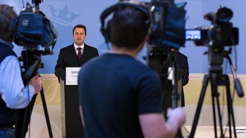 Vom einstigen Anspruch weit entfernt: Xavier Bettel bei einem der selten gewordenen Pressebriefings des Premierministers.