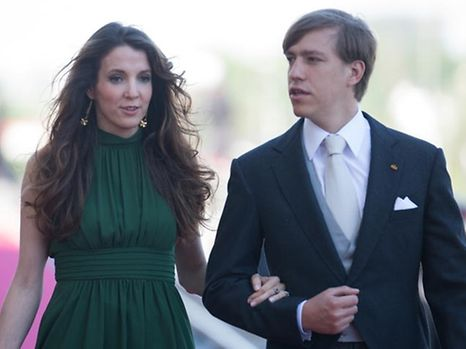 Prince Louis and Princess Tessy during the National Day celebrations on June 23, 2016 at the Philharmonie.