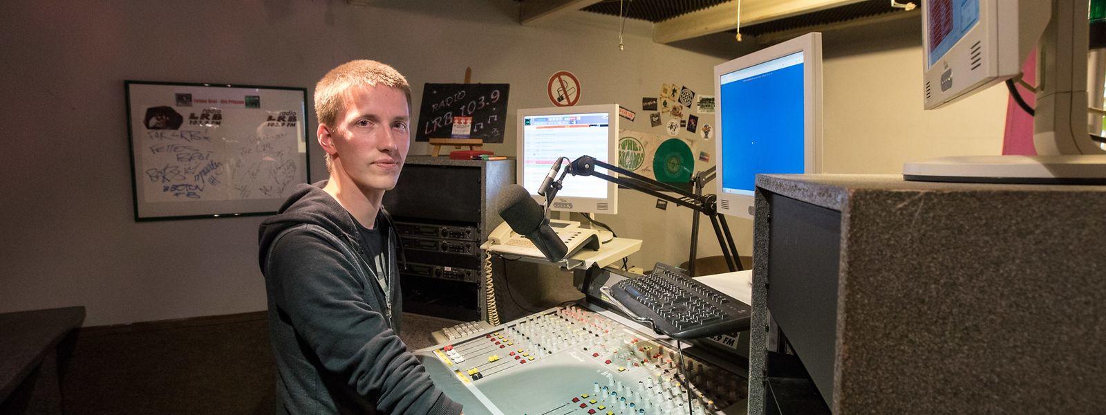 Tom Wasmer ist seit mehr als der Hälfte seines Lebens einer der Moderatoren von Radio LRB.